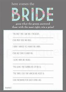 what are the grooms answers most correct answers wins a With wedding shower fun