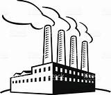 Factory Building Vector Illustration Drawing Classic Pollution Air Clipart Sketch Getdrawings sketch template