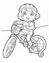 Coloring Bike Pages Dirt Helmet Dora Riding Printable Motorcycle Mountain Printables Explorer Getcolorings Rides Col Doratheexplorertvshow Popular sketch template