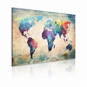 Tableau Du Monde : xxl format impression sur toile images 1 parties carte du monde tableau 020113 44 ~ Teatrodelosmanantiales.com Idées de Décoration