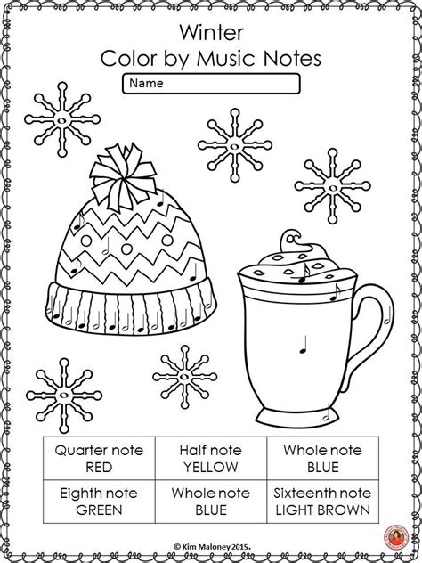 winter activities color by symbols