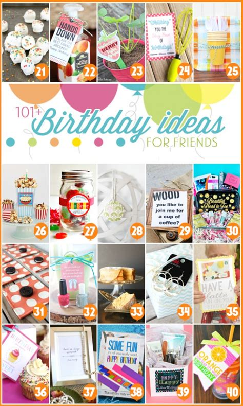 idea for best friends 101 easy birthday gift ideas and free printables Gift