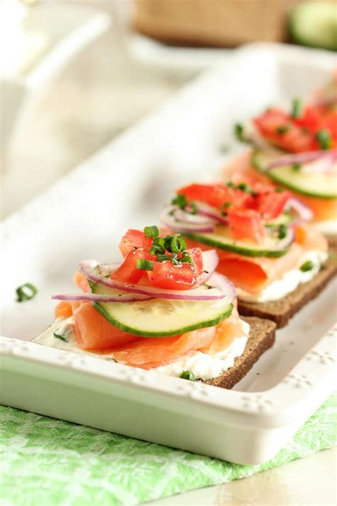 freezable canapes smoked salmon canapes with chive cheese