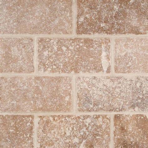 3x6 travertine subway tile subway tile tuscany walnut subway tumbled tile 3x6