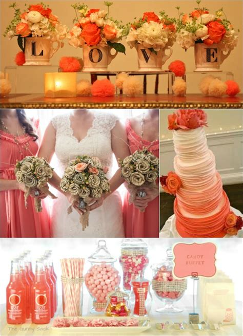 Coral Color Decorations For Wedding by Turquoise And Coral Wedding Colors Memes