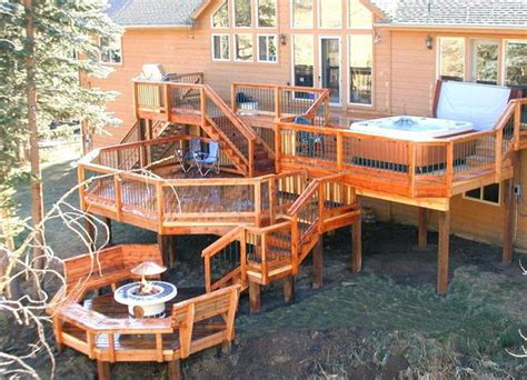 decks with tubs and pits deck design ideas with hot tubs that will blow your mind
