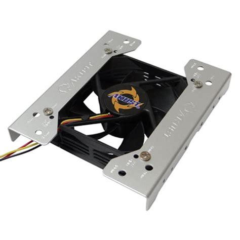 5 25 drive bay fan mount akust case fan bracket 80mm 92mm 120mm to 3 5 5 25 inch