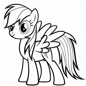 Rainbow Dash Clipart Black And White - ClipartXtras