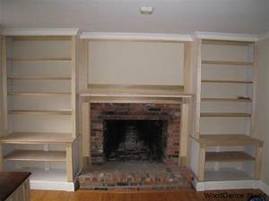 built in bookshelves plans around fireplace » woodworktips