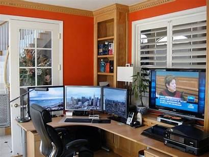 Office Computer Setups Setup Computers Desk Envious