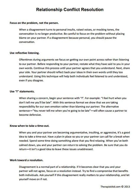 9 Best Couples Counseling Activitiesworksheets Images On