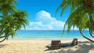 Paradise beach widescreen hd wallpaper