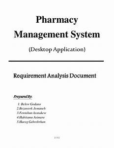 Pharmacy Management System Requirement Analysis And
