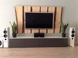 Holz tv wand tv wall wood deko und so pinterest for Holz deko wand