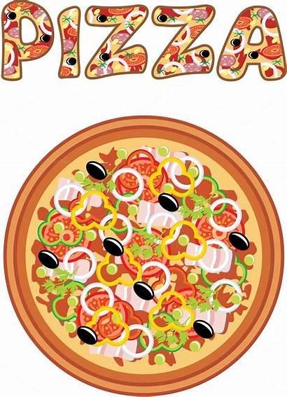 Pizza Bar Dibujo Cartoon Clipart Illustrations Pizzas