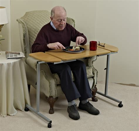 adjustable tilting bed and chair table