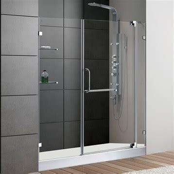 60 inch shower door vigo 60 inch frameless shower door 3 8 quot clear glass chrome 3934