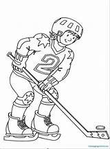 Hockey Coloring Pages Ice Rangers York sketch template