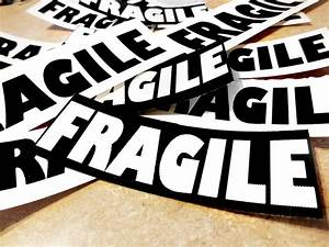 FRAGiLE & Handle with Care TAGS Stickers Packaging Shipping
