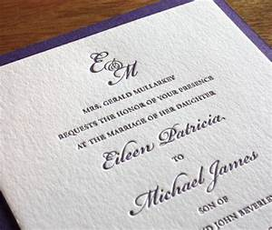 wedding invitation wording formal letterpress wedding With wedding invitation wording your presence is requested