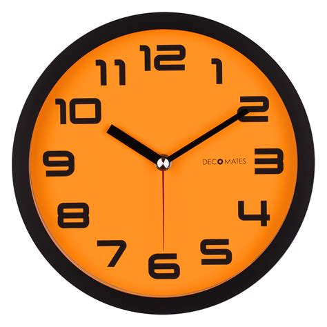 color block orange pumpkin silent wall clock decomates