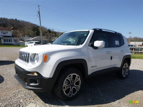 white jeep 2016 2016 alpine white jeep renegade limited 4x4 112229273