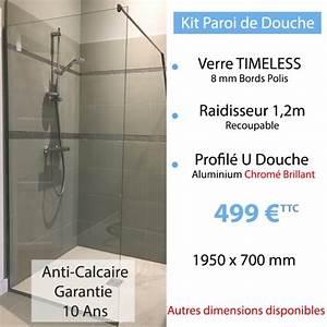 Paroi De Douche Anti Calcaire : kit paroi de douche en verre tremp anti calcaire ~ Dode.kayakingforconservation.com Idées de Décoration