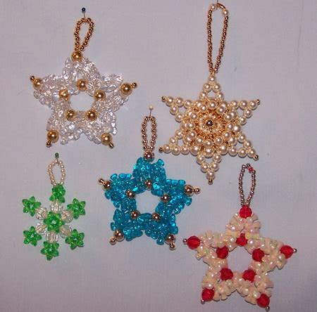 vintage beaded christmas ornaments star