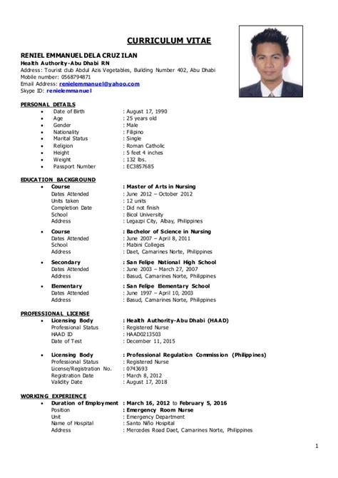 Curriculum Vitae Registered by Er Cv Reniel
