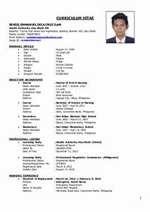 er nurse cv reniel With curriculum vitae for nurses