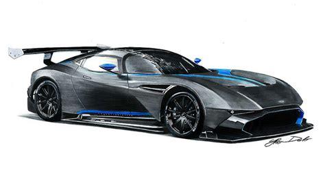 Aston Martin Vulcan Drawing, 50x35cm, Pencils & Markers