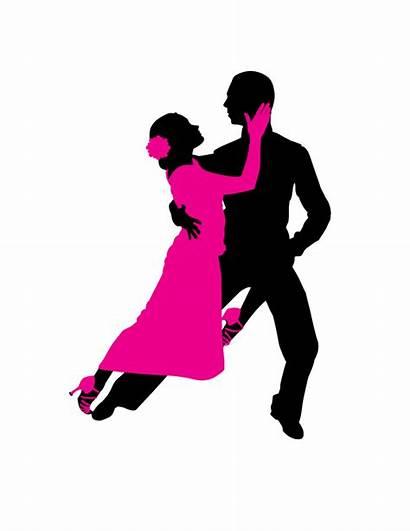 Dance Tango Ballroom Argentine Clipart Social Silhouette