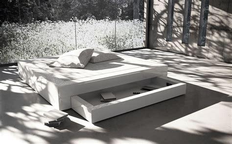 Bett Somnium Mit Bettkasten  Designbett Von Rechteck