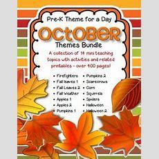 October Preschool Themes On Pinterest  Preschool Binder
