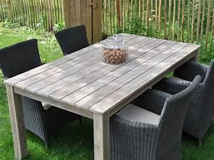 Table Jardin En Bois : table bois jardin ~ Teatrodelosmanantiales.com Idées de Décoration
