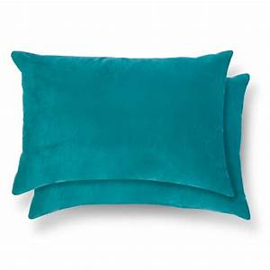 2 pack throw pillow lumbar teal room essentialstm target With back support pillow target