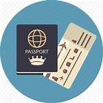Passport Icon Travel Ticket Boarding Airline Icons