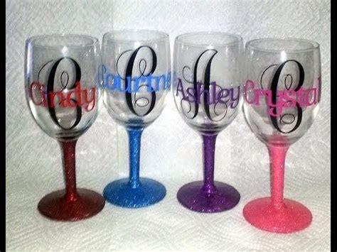 personalized wine glasses  vinyl  fonts  monogram  dafontcom monogramkk