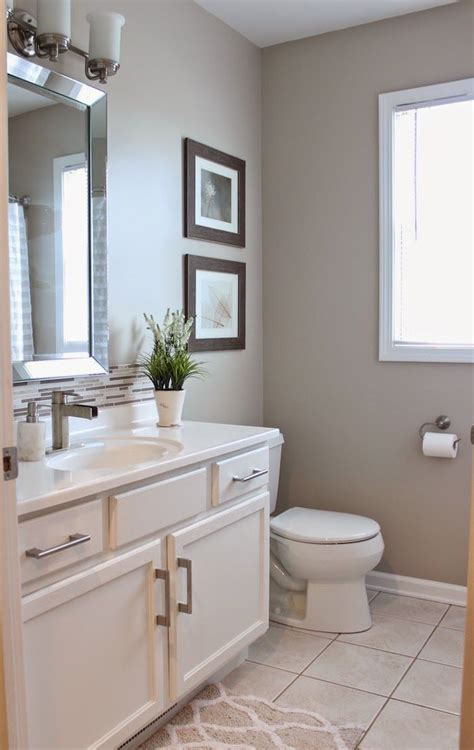 Bathroom Colors by Guest Bathroom Reveal Diy House Beige Bathroom