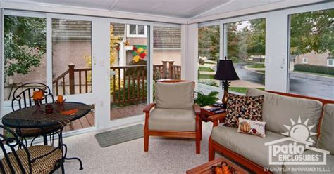 all seasons sunrooms concept white vinyl frame all season room with single slope roof