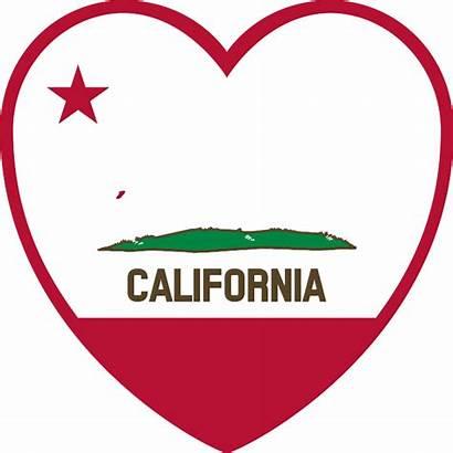 California Clipart Clip Flag Heart Svg Clipartpanda