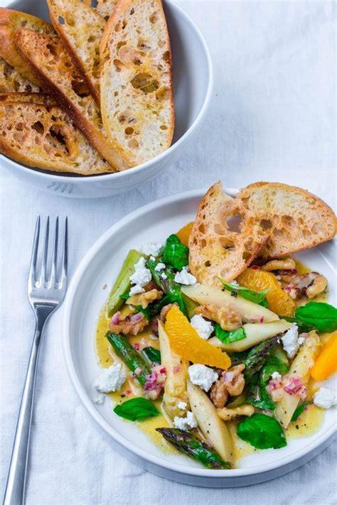 spargelsalat mit orangen vinaigrette und feta rezept