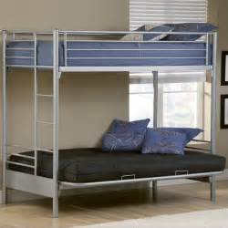 hillsdale universal youth futon bunk bed in silver finish 1178bbf