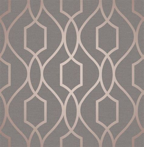 Cream Kitchen Tile Ideas - fine decor apex geo rose gold grey wallpaper fd41998
