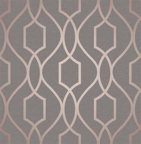 Kitchen Colour Scheme Ideas - fine decor apex geo rose gold grey wallpaper fd41998