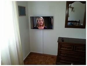 Fixer Une Télé Au Mur : supports muraux pour t l viseur installations satellite ~ Premium-room.com Idées de Décoration