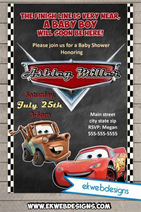 disney cars baby shower invitations custom lightening