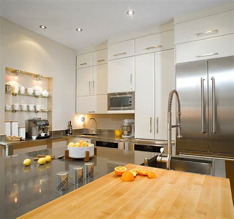 kitchen cabinets with backsplash the shiny kitchen metal decor for your culinary space 8563