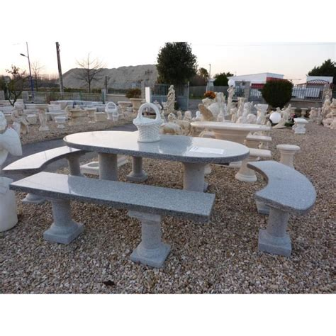 ensemble table et banc en granit cinza achat vente salon de jardin ensemble table et banc en