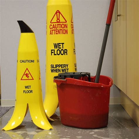 banana wet floor safety cones with next day delivery ese